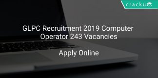 GLPC Recruitment 2019 Computer Operator 243 Vacancies