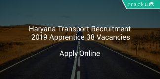 Haryana Transport Recruitment 2019 Apprentice 38 Vacancies