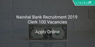 Nainital Bank Recruitment 2019 Clerk 100 Vacancies