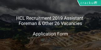 HCL Recruitment 2019 Assistant Foreman & Other 26 Vacancies