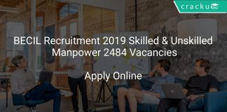 BECIL Recruitment 2019 Skilled & Unskilled Manpower 2484 Vacancies