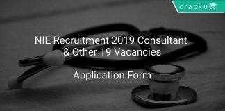 NIE Recruitment 2019 Consultant & Other 19 Vacancies