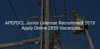 APEPDCL Junior Lineman Recruitment 2019 Apply Online 2859 Vacancies