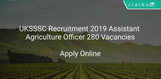 UKSSSC Recruitment 2019 Assistant Agriculture Officer 280 Vacancies