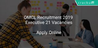 OMCL Recruitment 2019 Executive 21 Vacancies