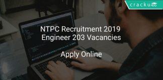 NTPC Recruitment 2019 Engineer 203 Vacancies