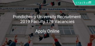 Pondicherry University Recruitment 2019 Faculty 179 Vacancies