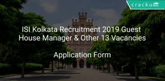 ISI Kolkata Recruitment 2019 Guest House Manager & Other 13 Vacancies