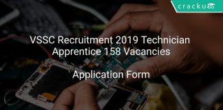 VSSC Recruitment 2019 Technician Apprentice 158 Vacancies