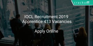 IOCL Recruitment 2019 Apprentice 413 Vacancies