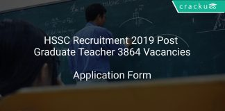 HSSC Recruitment 2019 Post Graduate Teacher 3864 Vacancies