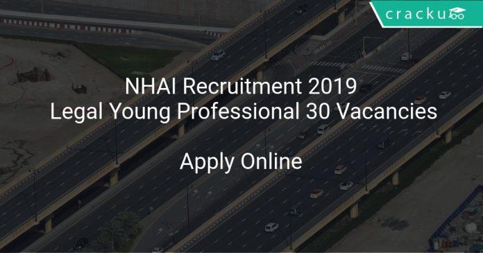 NHAI Recruitment 2019 Legal Young Professional 30 Vacancies