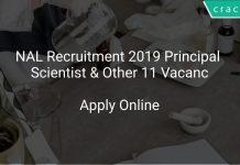 NAL Recruitment 2019 Principal Scientist & Other 11 Vacancies