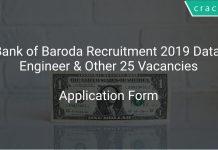 Bank of Baroda Recruitment 2019 Data Engineer & Other 25 Vacancies