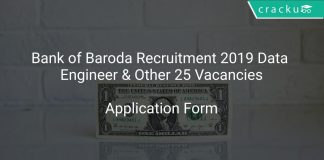 Bank of Baroda Recruitment 2019 Data Engineer & Other 25 Vacancies