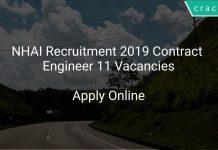 NHAI Recruitment 2019 Contract Engineer 11 Vacancies