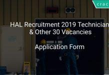 HAL Recruitment 2019 Technician & Other 30 Vacancies