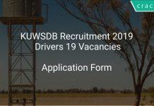 KUWSDB Recruitment 2019 Drivers 19 Vacancies