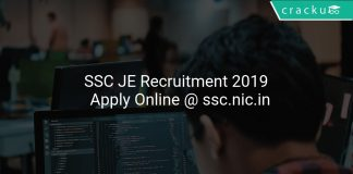 SSC JE Recruitment 2019 Notification PDF Download and Apply Online @ ssc.nic.in