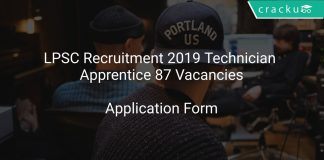 LPSC Recruitment 2019 Technician Apprentice 87 Vacancies