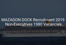 MAZAGON DOCK Recruitment 2019 Non-Executives 1980 Vacancies