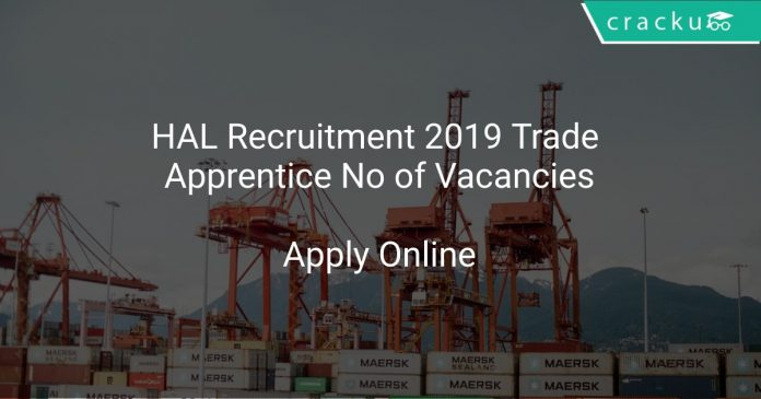 HAL Recruitment 2019 Trade Apprentice No of Vacancies