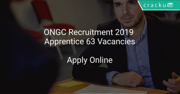 ONGC Recruitment 2019 Apprentice 63 Vacancies