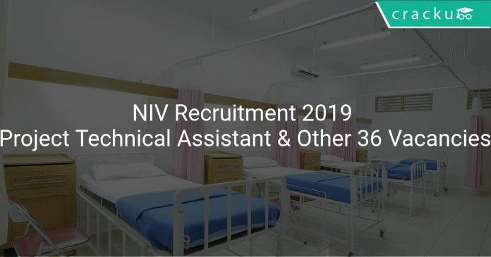 NIV Recruitment 2019 Project Technical Assistant & Other 36 Vacancies