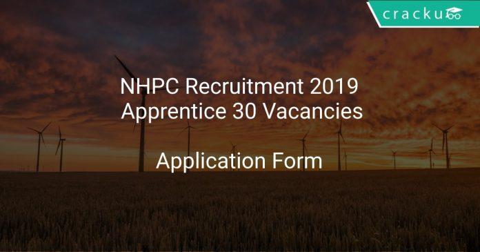 NHPC Recruitment 2019 Apprentice 30 Vacancies