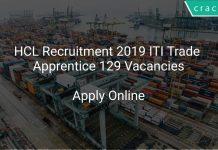HCL Recruitment 2019 ITI Trade Apprentice 129 Vacancies