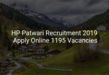 HP Patwari Recruitment 2019 Apply Online 1195 Vacancies