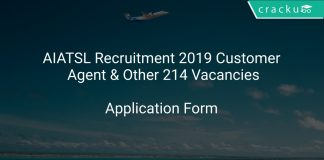 AIATSL Recruitment 2019 Customer Agent & Other 214 Vacancies