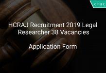 Rajasthan High Court Recruitment 2019 Legal Researcher 38 Vacancies