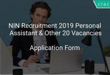 NIN Recruitment 2019 Personal Assistant & Other 20 Vacancies