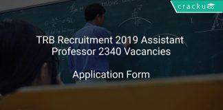 TRB Recruitment 2019 Assistant Professor 2340 Vacancies