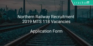 Northern Railway Recruitment 2019 MTS 118 Vacancies