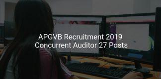APGVB Recruitment 2019 Concurrent Auditor 27 Posts