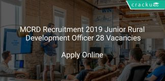 MCRD Recruitment 2019 Junior Rural Development Officer 28 Vacancies