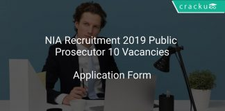 NIA Recruitment 2019 Public Prosecutor 10 Vacancies