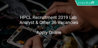 HPCL Recruitment 2019 Lab Analyst & Other 36 Vacancies