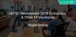 UKPSC Recruitment 2019 Economics & Other 14 Vacancies