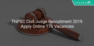 TNPSC Civil Judge Recruitment 2019 Apply Online 176 Vacancies