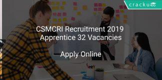 CSMCRI Recruitment 2019 Apprentice 32 Vacancies
