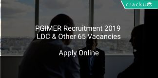 PGIMER Recruitment 2019 LDC & Other 65 Vacancies