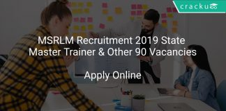 MSRLM Recruitment 2019 State Master Trainer & Other 90 Vacancies