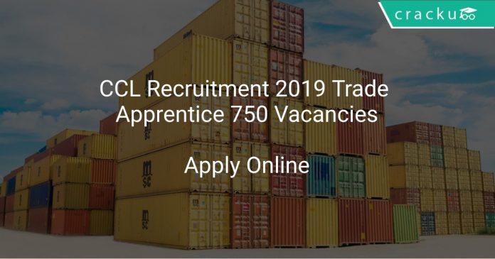 CCL Recruitment 2019 Trade Apprentice 750 Vacancies