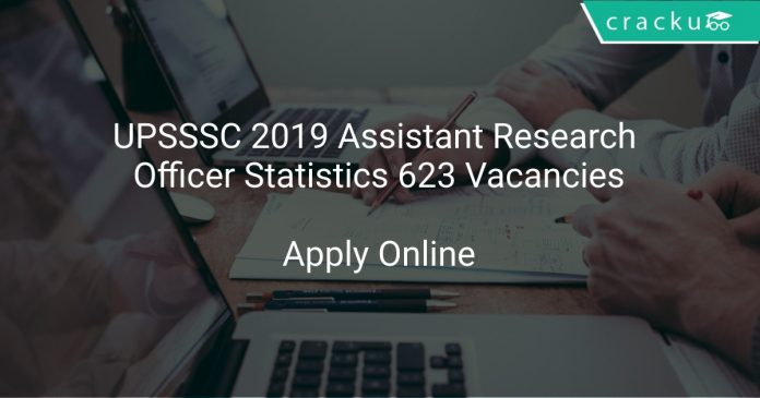 UPSSSC 2019 Assistant Research Officer Statistics 623 Vacancies