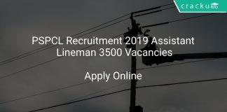 PSPCL Recruitment 2019 Assistant Lineman 3500 Vacancies