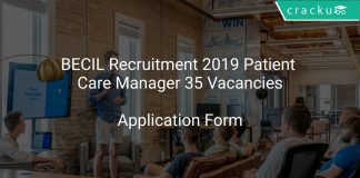 BECIL Recruitment 2019 Patient Care Manager 35 Vacancies