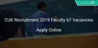 CUK Recruitment 2019 Faculty 67 Vacancies